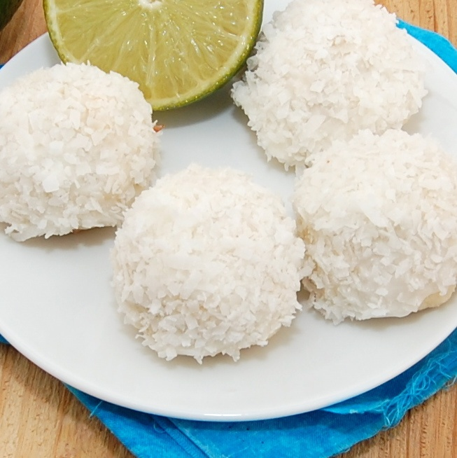Lime Glazed Coconut Snowballs