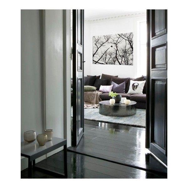 Black floorboards House goals Pinterest