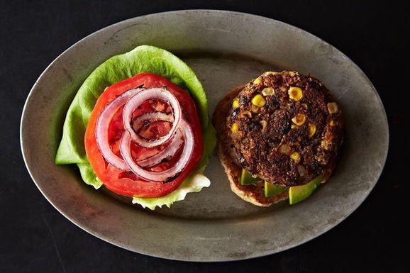 Black Bean and Corn Veggie Burgers
