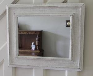 White distressed wall mirror Bathroom mirrors