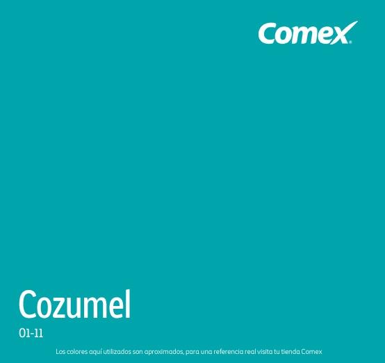 Comex colores imagui for Pintura color turquesa