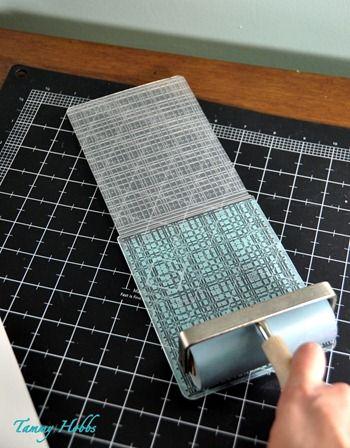 Inking embossing folders...