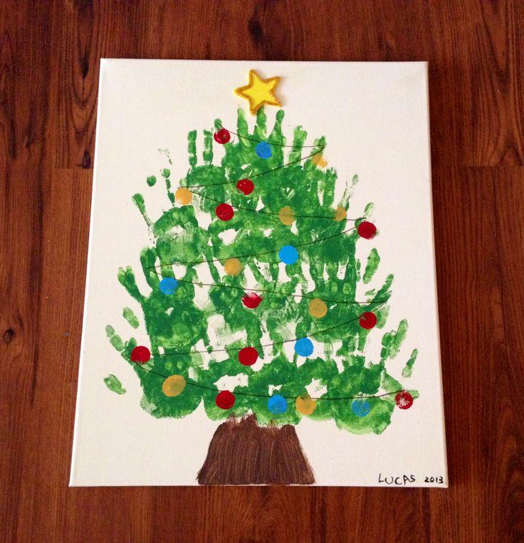 christmas tree handprint - photo #27