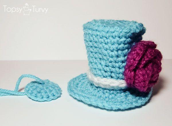 Free Crochet Pattern For Top Hat : Crochet Mini Top Hat Pattern- boys and girls