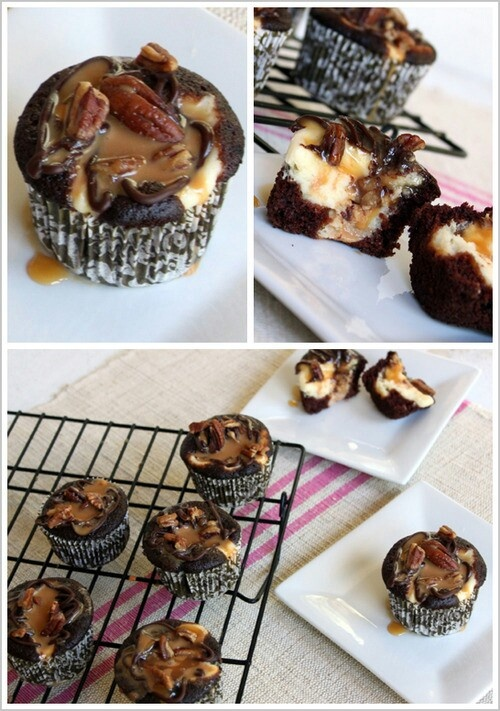 Chocolate Cheesecake Turtle Cupcakes | But Mommy I wanna stay home an ...