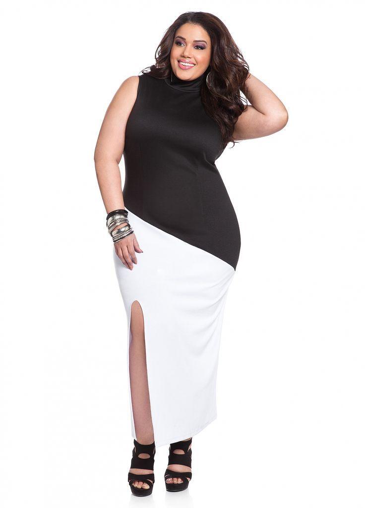 Plus size white party dress photo