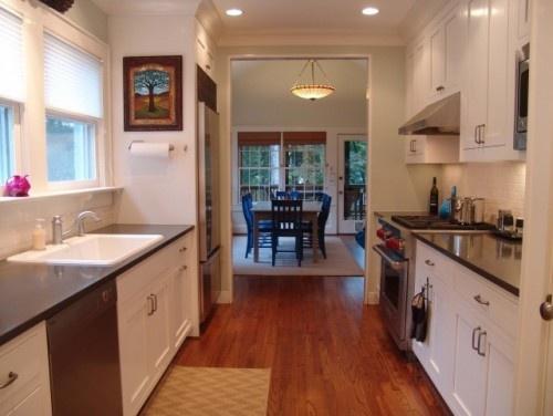 simple galley kitchen kitchen pinterest