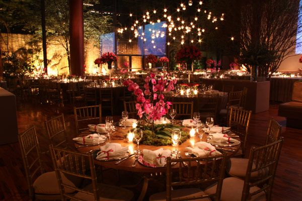 An elegant wedding and wedding party in Sao Paulo, Brazil