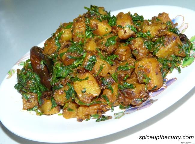 Potatoes with Fenugreek Leaves | Food | Pinterest