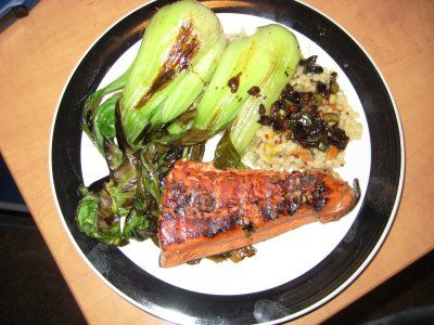... with bok choy spicy salmon with bok choy and rice recipe real simple