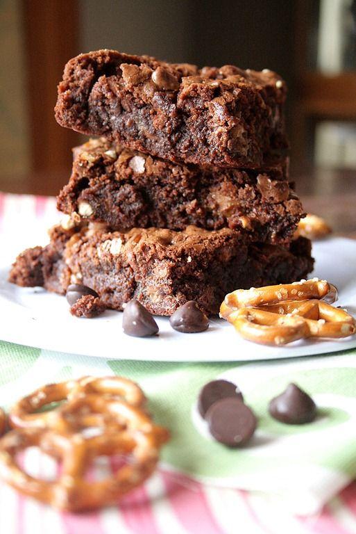 ... like this: caramel pretzel brownies , caramel brownies and pretzel