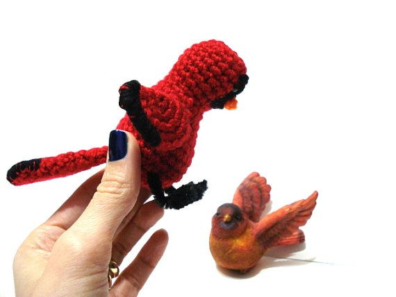 Pattern, Amigurumi Cardinal Bird Pattern, Crochet Bird ...