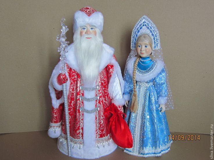 Костюм деда мороза на куклу своими руками 31
