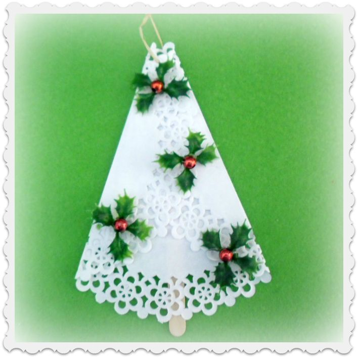 Christmas Craft Ideas With Paper Doilies : Pin by krista nichols on craft ideas