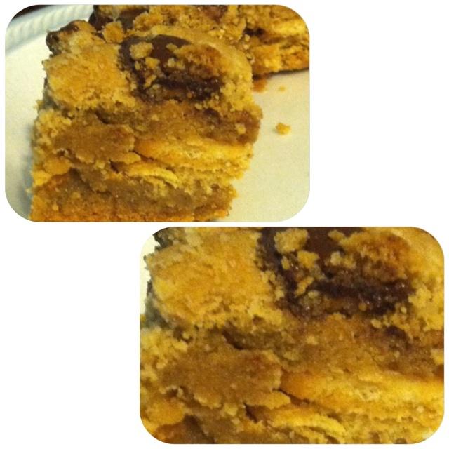 Peanut butter brownies yum ... I tweaked the slutty blonde brownies ...