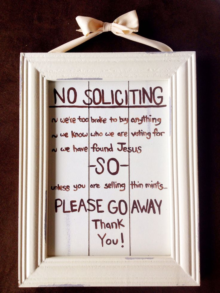 Funny no soliciting sign images - Funny soliciting signs ...