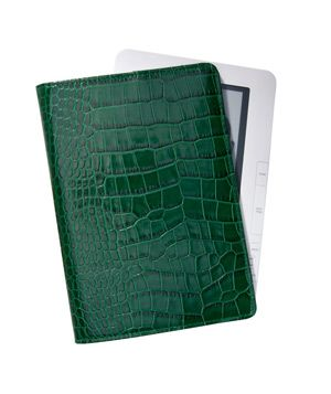 eBook Reader Case in Crocodile Embossed Leather