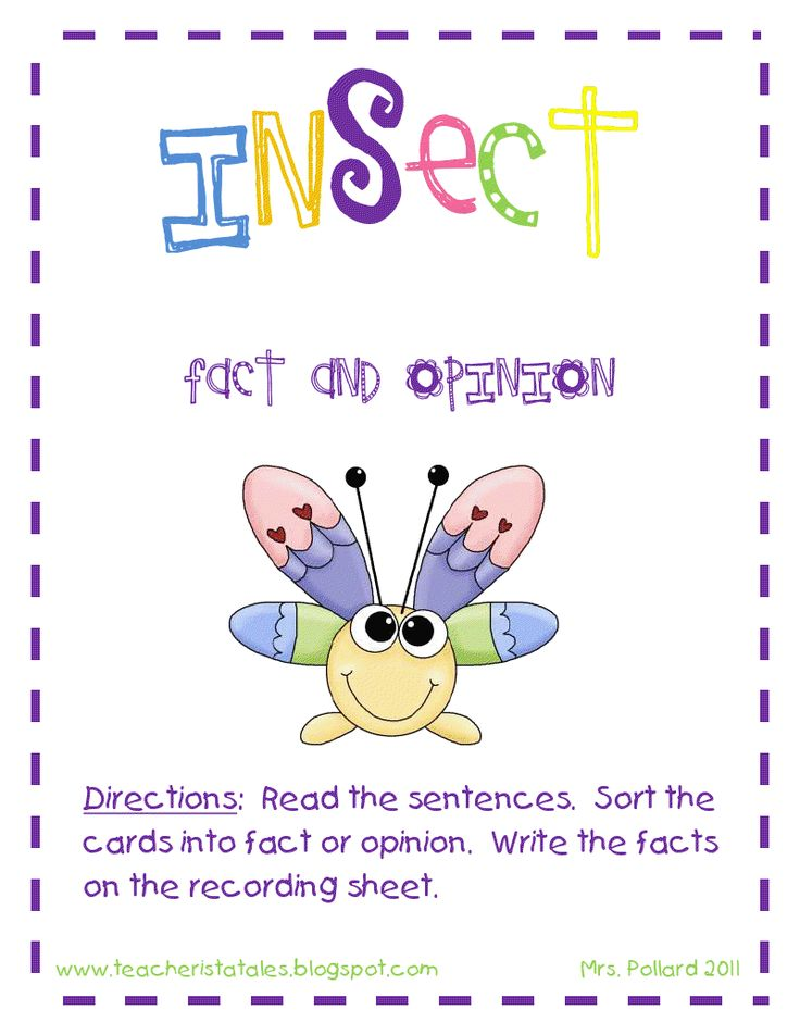 Tales of a Teacherista: Insect Fact and Opinion Sort