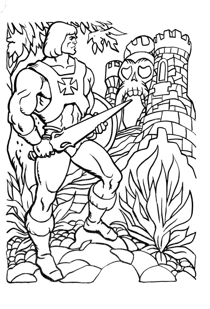 He Man Coloring Page Coloring Book Pinterest He Coloring Pages