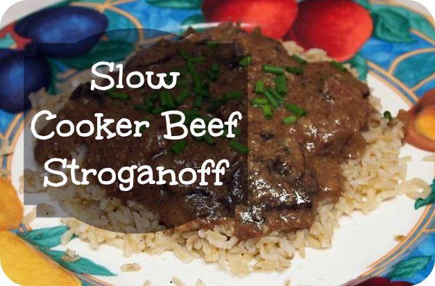 Slow Cooker Beef Stroganoff   Crock pot cooking   Pinterest