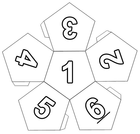 7 sided dice template to print