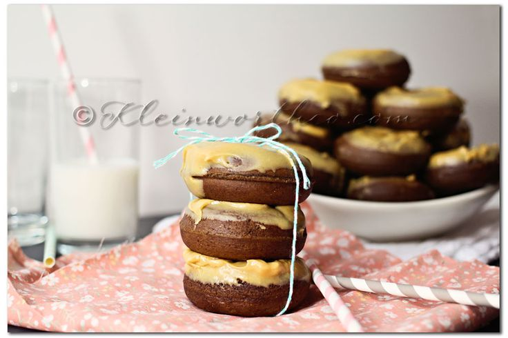 Chocolate Cake Donuts ~ The peanut butter glaze was great on top of ...