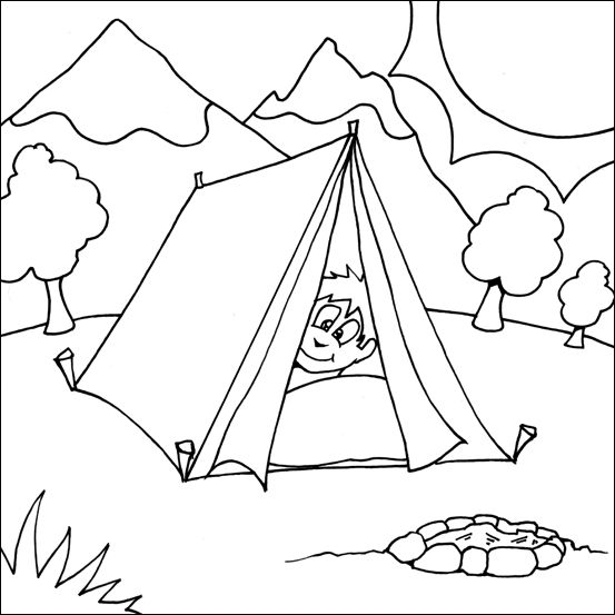free nature scene coloring pages - photo#16