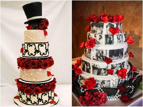 Hochzeitstorte-rose-rot-schwarz-fotos-idee