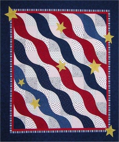 The Virginia Quilter � Quilting Patterns � Misc Patterns � The Wave Quilt Pattern.