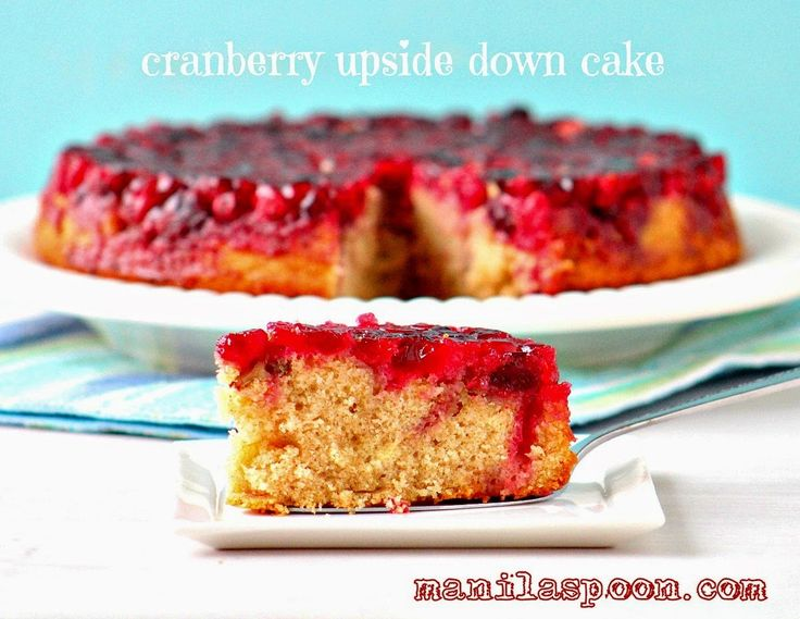 CRANBERRY UPSIDE DOWN CAKE - Fresh or frozen cranberries can be used ...
