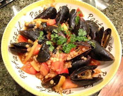 Mussels with Israeli Couscous | Boys and Beets | Farm Fresh Recipes ...