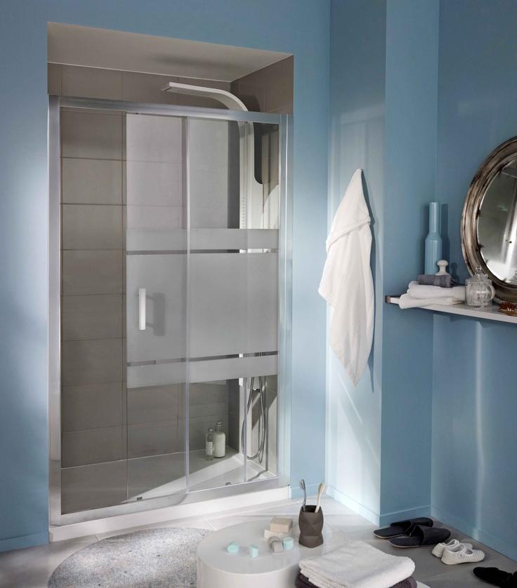Porte de douche grands espaces mod le vogue http www - Porte coulissante salle de bain lapeyre ...