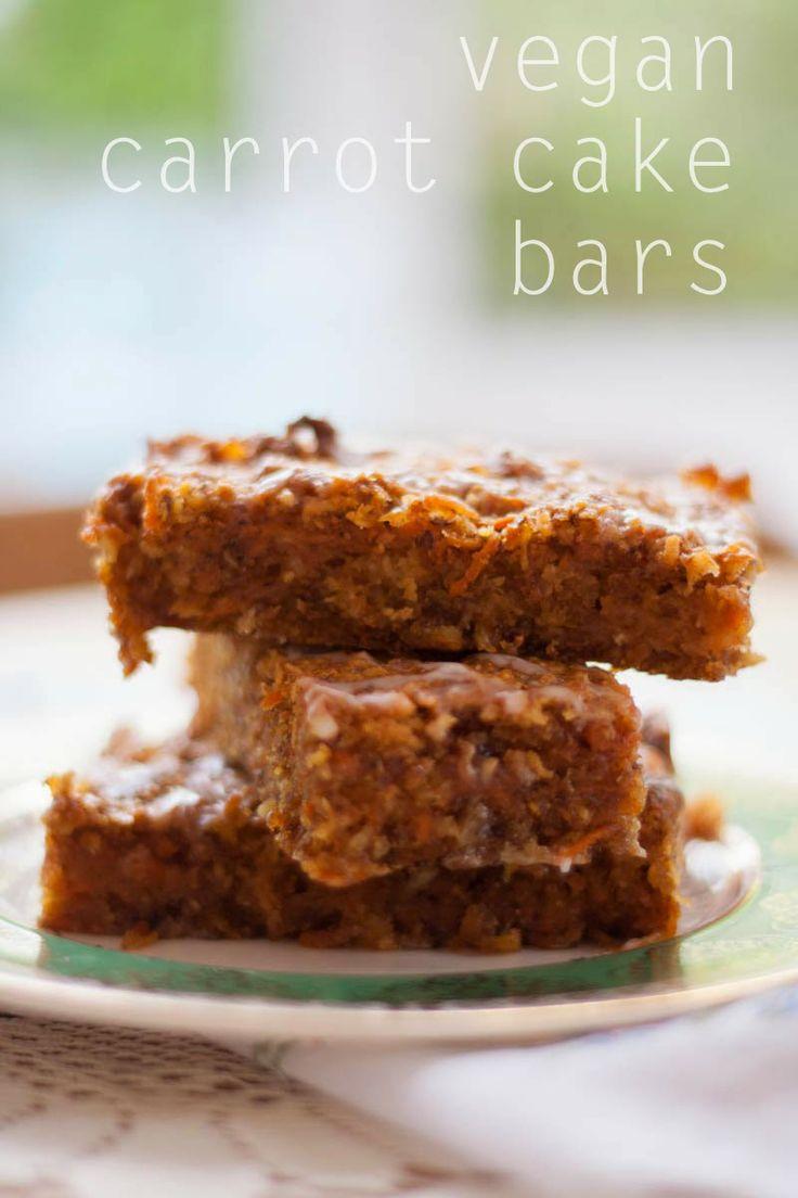 vegan carrot cake bars! | Tasty treats | Pinterest
