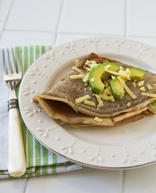 Buckwheat Crepes With Avocado & Aged Cheddar Cheese ...