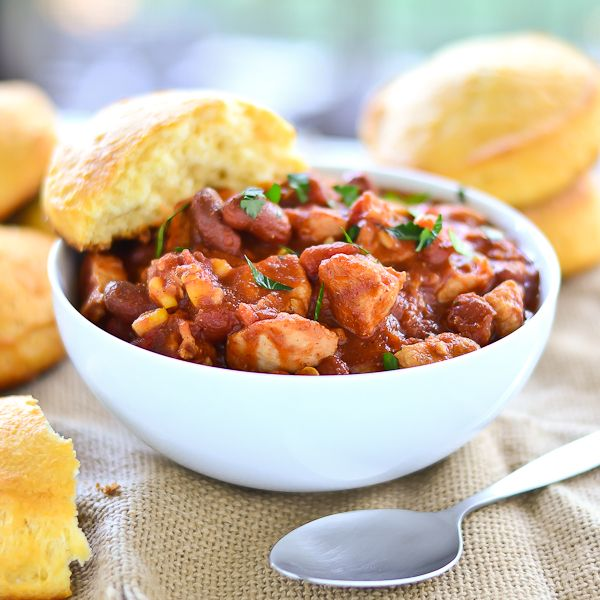 Hearty & Healthy Chicken Chili- take out kidney beans for a low carb ...