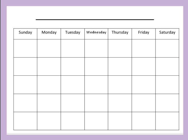 blank month calendar | organizing/cleaning | Pinterest