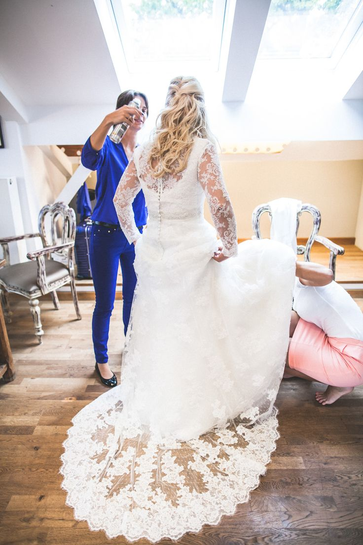 perfect wedding dress with lace  Wedding  Pinterest