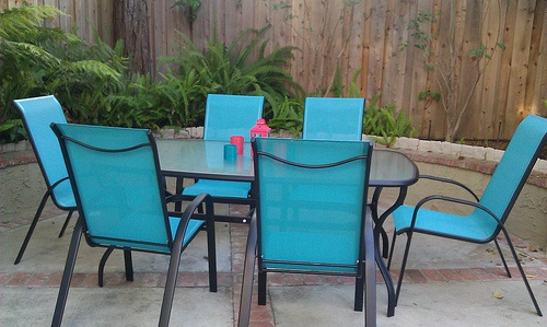 turquoise patio set OUTSIDE SPACES