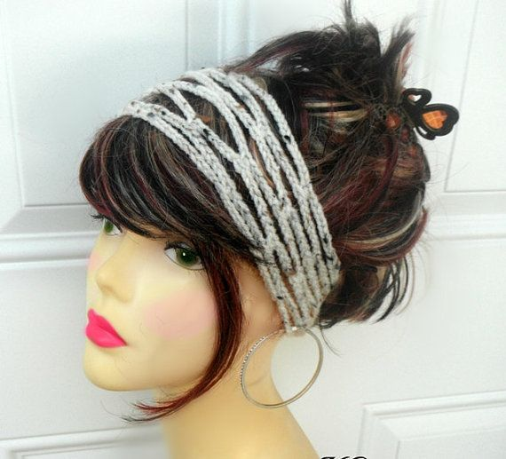 Crochet Hair Accessories : ... ://www.etsy.com/listing/121950279/crochet-headband-hair-accessories