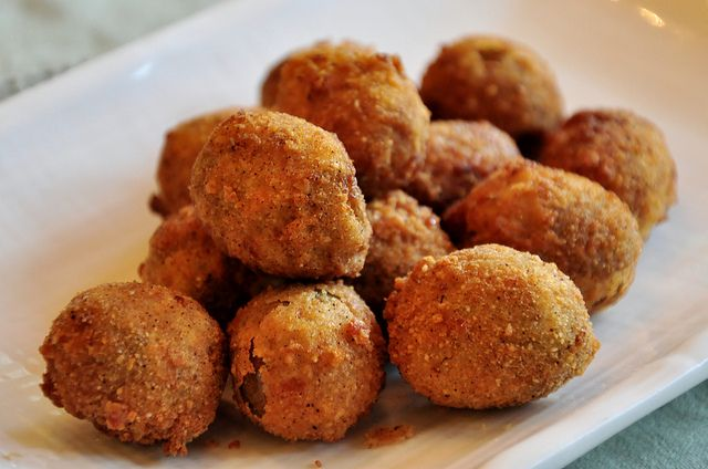 Deep-Fried Pimento-Stuffed Olives by tofu666, via Flickr