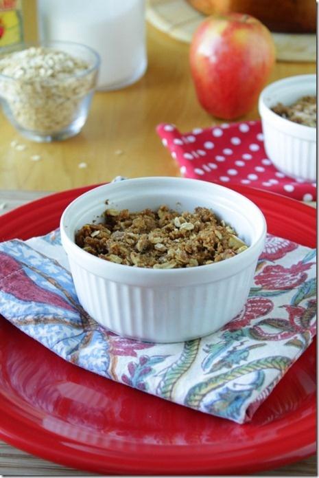 Oatmeal apple crisp good food pinterest