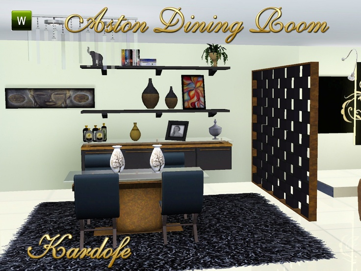 Pin by e t on sims rooms pinterest for Sims 3 dining room ideas