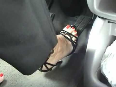 Close foot pedal picture pumping sexy up