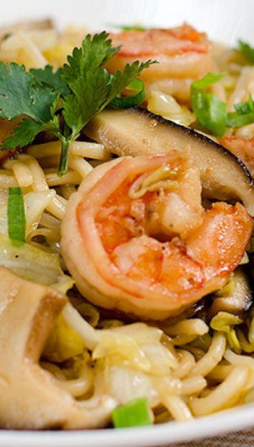 Shrimp and Vegetable Fried Noodles | Recipe