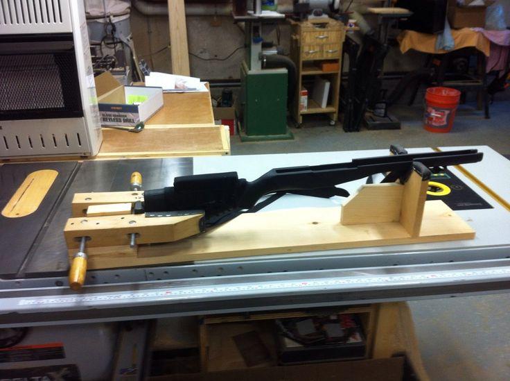 wood gun vise plans homemade rifle shooting rest homemade gun cleaning ...