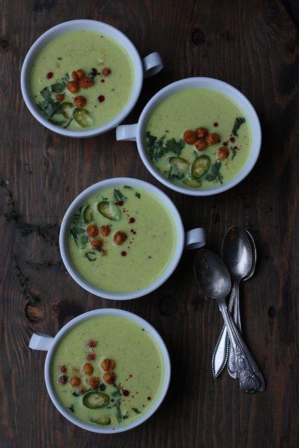 Ridge gourd Yogurt and Coconut Milk Stew with Sriracha Roasted Garbanzo Beans #soups #stews #Indian