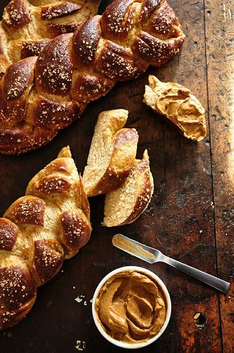Challah Pretzel Bread with Adobo-Lime Butter