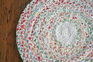 Braided (no sew) rag rug