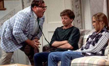 """I live in a van down by the river.""  Chris Farley as Matt Foley."