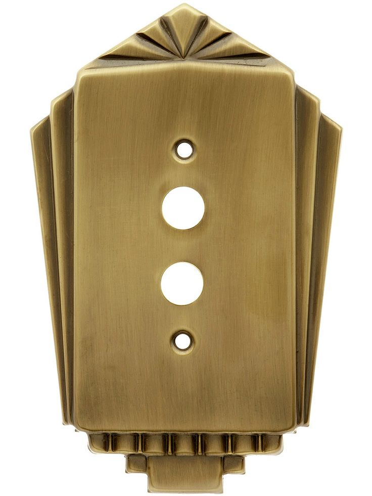 Streamline Deco Push Button Switch Plate Single Gang In